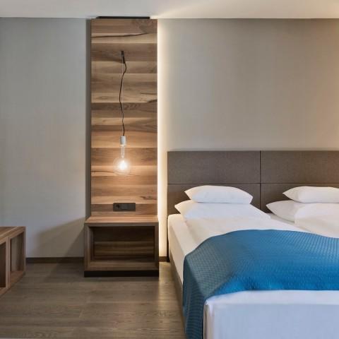 Rollstuhlgerechtes Zimmer im Hotel brunner Schladming