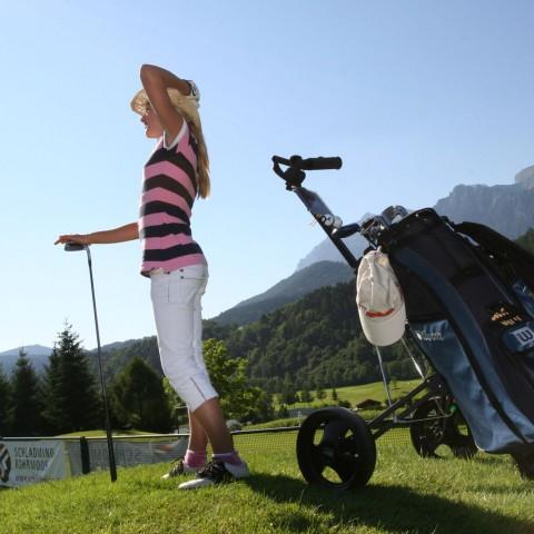 Österreich, Golfen, Dachstein-Tauern, Langer, Pebble Beach, Alpen, Haus im Ennstal
