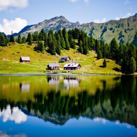 Duisitzkarsee, schönster, Bergsee, Österreich, Hütte, Wandern, Bergtour