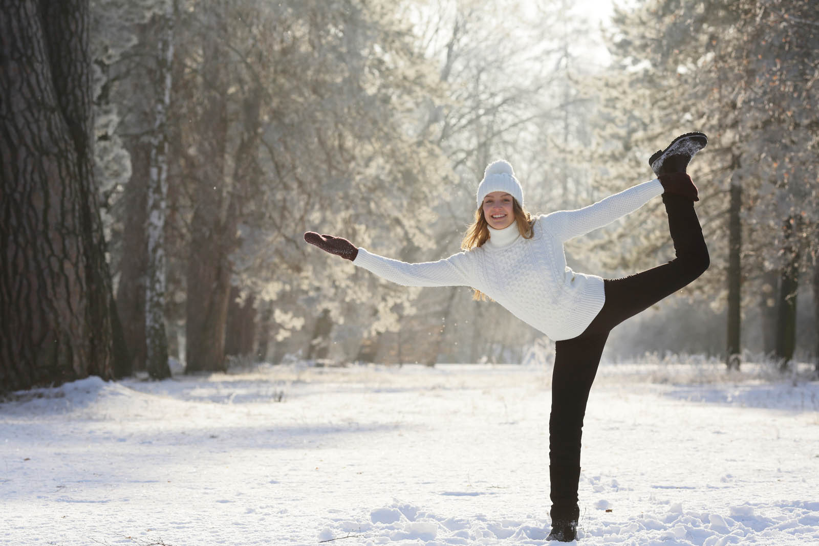 Yoga Angebot Berge Winter